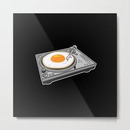 Egg Scratch Metal Print