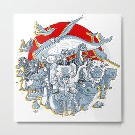 Animals ABC Metal Print