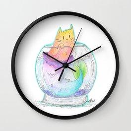 Pet Purrmaid Wall Clock