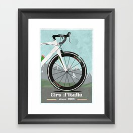 Giro d'Italia Bike Framed Art Print
