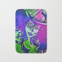 Vixen : purple/green Bath Mat