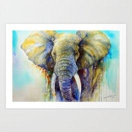 Gentle Giant_ Elephant Art Art Print