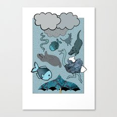 Raining Animals Canvas Print