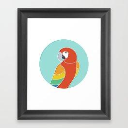 Rainbow Parrot on Mint Framed Art Print