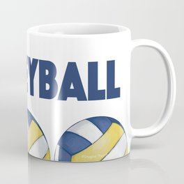 Volleyball Art Coffee Mug