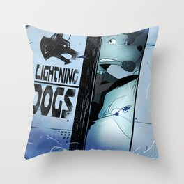 Lightning Dogs :: Beware the Glampire! by Tony Baldini Throw Pillow