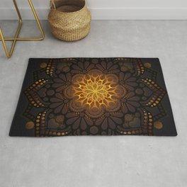 """Warm light Moroccan lantern Mandala"" Rug"
