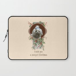 DOG LOVER CHRISTMAS GREETINGS Laptop Sleeve
