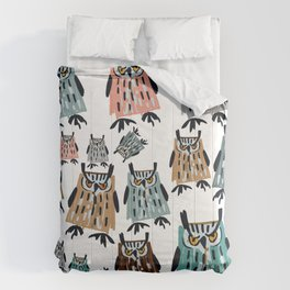 King Owl pattern Comforters