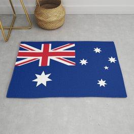 The National flag of Australia, authentic version (color & scale 1:2) Rug