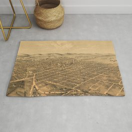 Vintage Pictorial Map of Kalamazoo Michigan (1874) Rug