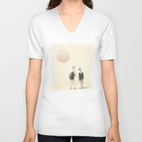 twilight V-neck T-shirts featuring twilight by Vin Zzep