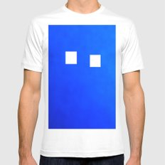 Minimalism Electric Blue Mens Fitted Tee White MEDIUM