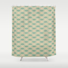 Interlocking Jellybeans Shower Curtain
