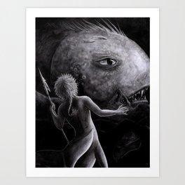 Into the Sea of Night Art Print