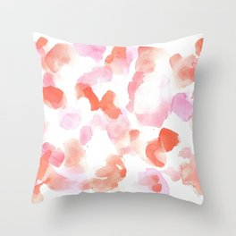 180527 Abstract Watercolour 19  | Watercolor Brush Strokes Throw Pillow
