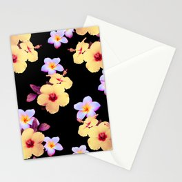 Hibiscus and Plumeria Stationery Cards