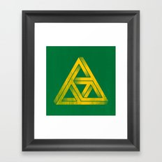Penrose Triforce Framed Art Print