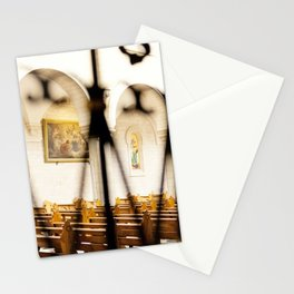 Abstract Hearts in Church, Israel  Stationery Cards