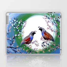 Quails and Serenity Laptop & iPad Skin
