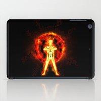 kakashi iPad Cases featuring NARUTO - kyubi chakra by kattie flynn
