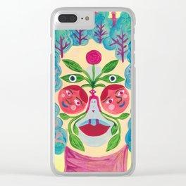 Garden Face Clear iPhone Case