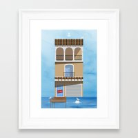skiing Framed Art Prints featuring Gone Skiing by Chris Redford