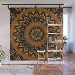Mandala Star brown Wall Mural