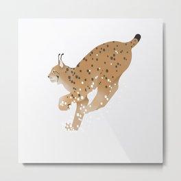 Eurasian lynx - Run Metal Print