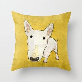 English Bull Terrier pop art Throw Pillow
