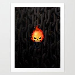 Chibi Ghost Rider Art Print
