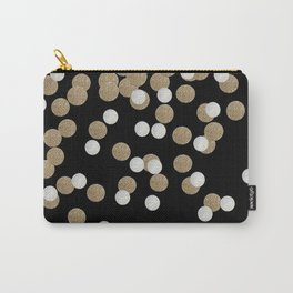 Glamorous chic New year eve party minimalist black gold confetti Carry-All Pouch