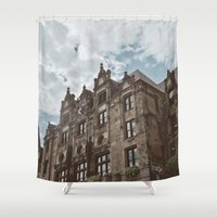castle Shower Curtains featuring Castle  by Bella Harris