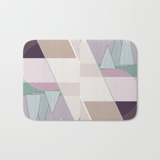 Pastel tone . Abstraction . Bath Mat