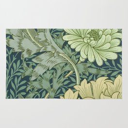William Morris - Wallpaper Sample With Chrysanthemum Rug