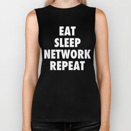 Eat Sleep NETWORK Repeat.  Biker Tank
