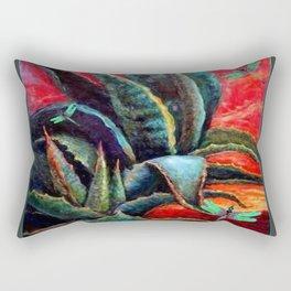 BROWN  DESERT AGAVE & BLUE DRAGONFLIES Rectangular Pillow