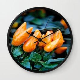 hot chiles Wall Clock