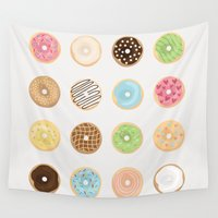 donut Wall Tapestries featuring Donut by Céline Dscps