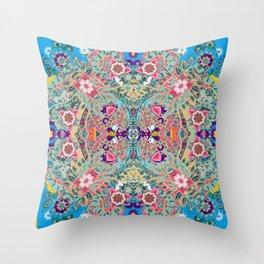 Mandala - Turquoise Boho Throw Pillow