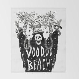 Voodoo Beach Nights Throw Blanket