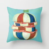 dragon ball Throw Pillows featuring Ball by colorlabo