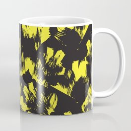 Yellow Floral Brush Strokes Pattern Background Coffee Mug