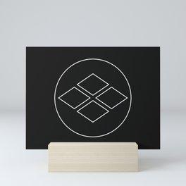 Takeda Clan · White Mon · Outlined Mini Art Print