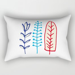 Fall and winter leaves white Rectangular Pillow