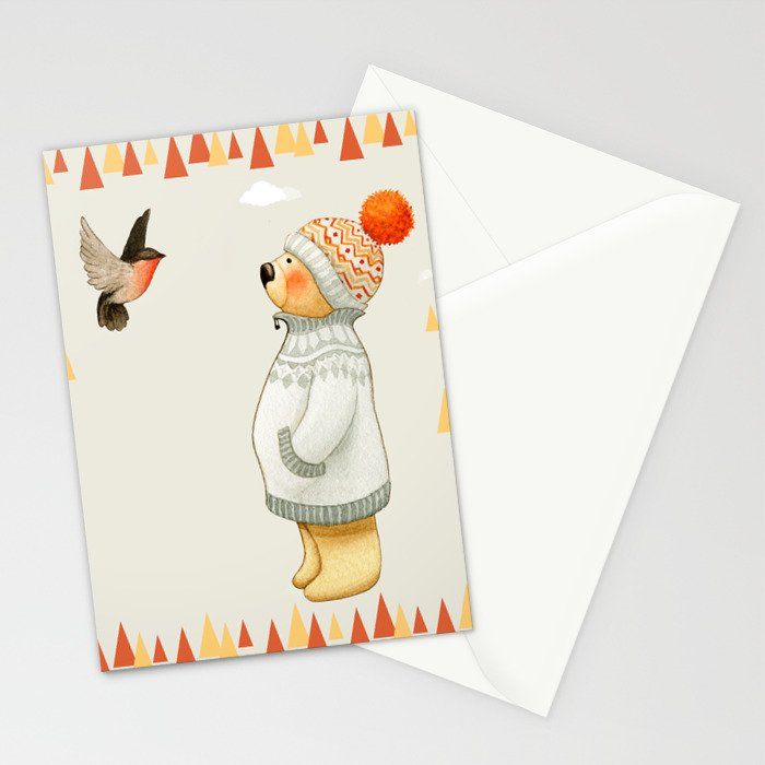 Warm Winter Bear Stationery Cards