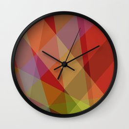 Stripes - Red Wall Clock