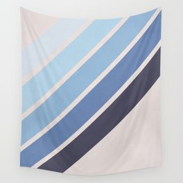 Blue Color Drift Wall Tapestry