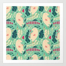 Bear Pattern 003 Art Print