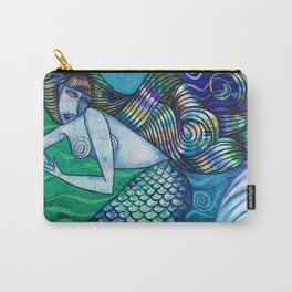 Teal Mermaid Carry-All Pouch